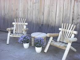 log rustic furniture amish. White Cedar Log Rustic Lawn Chair - A Great Furniture Look For Country House Amish T
