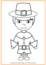 Small Picture pilgrim boy coloring page Holidays Events Thanksgiving