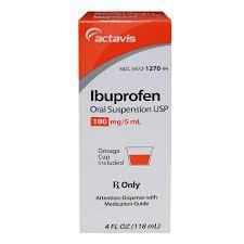 Ibuprofen Suspension 100mg 5ml Berry 4 Oz Brand