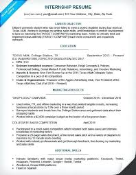 College Student Resume For Internship Fascinating Resume Samples For Freshmen College Students As Well As Internship