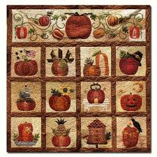 The Great Pumpkin Wool & Matka Silk Quilt Kit BOM - Start Anytime ... & The Great Pumpkin Wool & Matka Silk Quilt Kit BOM - Start Anytime! by Briar  Rose Designs Adamdwight.com