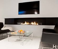panorama fireplacepanorama by decoflame linear built in fireplace an extended length fire surround with side panels