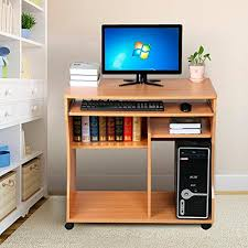 computer desk for home office. Simple Office Popamazing Movable ComputerWriting Desk With Sliding KeyboardStorage  ShelvesWheels For Small SpacesBlack Amazoncouk Kitchen U0026 Home Inside Computer For Office