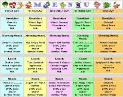 Babies Menu Planner Pin By Laurie Bond On Day Home Menü Funfood Baby