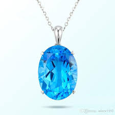 whole 10 13 9 natural swiss blue topaz pendant necklace 9k18k white handmade jewelry charm necklace from adrew1992 1 84 dhgate com