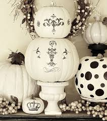 Decorating with black and white pumpkins