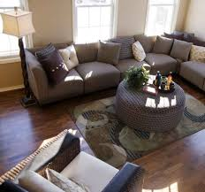 small living room furniture layout. Modern Small Space Living Room Furniture Layout With Beige Walls And Dark Brown Furnished Hardwood A