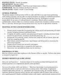 Payroll Administrator Job Description Veteransforum Us