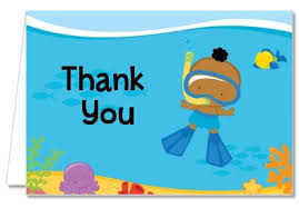 Baby Boy Thank You Cards Baby Shower Thank You Cards Under The Sea African American Baby