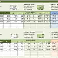 Debt Payoff Excel Debt Reduction Calculator Excel Templates With Credit Card Debt