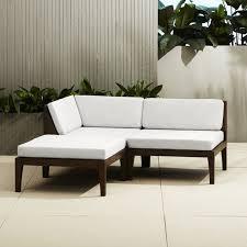 cb2 patio furniture. Photo 5 Of 8 Elba Outdoor Mahogany Sectional Sofa | CB2 ( Cb2 Patio Furniture #5) O