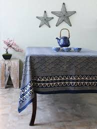 navy blue tablecloth plastic round gingham 70