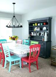 colorful dining table round