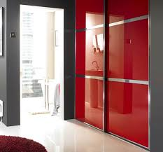 red glass h bar wardrobe door