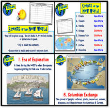 Columbian Exchange 5e Lesson Scents Of The New World Activity Cause Effects