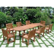 vifah vista piece wood patio dining set cushions calgary furniture canada