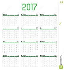 Vector Of Calendar 2017 New Year 12 Month Calendar Set