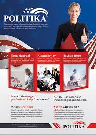 Campaign Brochure Political Campaign Brochure Psd Template Industry