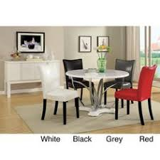 furniture of america relliza contemporary high gloss lacquer 5 piece dining set overstock