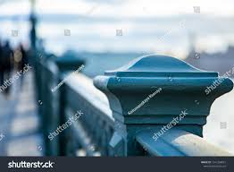 Blue Fence Designs Wrought Iron Fence Designs Patterns Stock Photo Edit Now