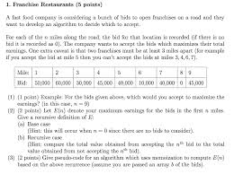 Example Of Franchise 1 Franchise Restaurants 5 Points A Fast Food Co
