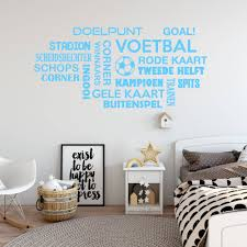 Muursticker Voetbal Woorden Wolk Muursticker4sale Muursticker4sale