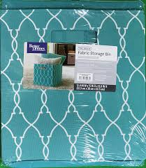 com better homes and gardens collapsible fabric storage cube teal trellis home kitchen