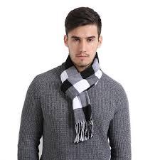 Newest Plaid Scarf <b>Men</b> And Women <b>Fashion</b> Acrylic Scarf Warm ...
