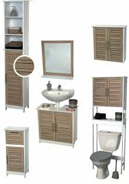 Bamboo Bathroom Cabinets Bathroom Wall Mounted Cabinet 2 Doors Bamboo Wood