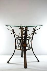 iron with round glass top side table tables nz