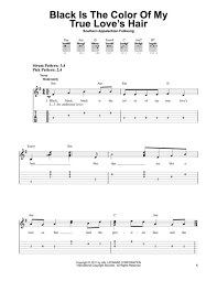 color my world sheet music download black is the color of my true loves hair sheet music by