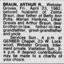 Arthur R Braun obit_STL Post-Dispatch_25 Apr 1982 - Newspapers.com