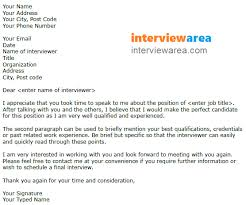 Letter To Interview Job Interview Thank You Letter Scheduling A Follow Up