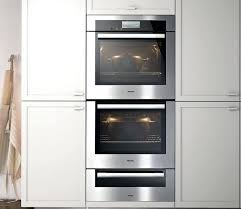 miele 30 double convection oven stainless steel h6780bp2 contemporary kitchen miele double wall oven miele double wall oven 27 inch