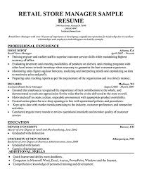 Examples Of Resumes For Retail Jobs Resume Letter Collection