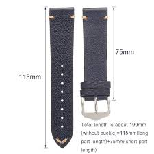 20mm 22mm shock resistant leather replacement strap watch band spring pars tool wristband blue 20mm cod