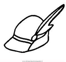 Disegno Alpini Cappello Misti Da Colorare Sketch Coloring Page
