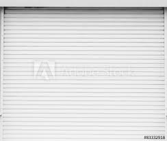 white garage door texture. White Metal Roller Door Shutter Background And Texture . Garage