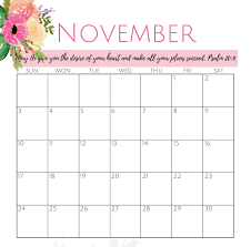 November November Calendar Colorful Cute November 2019 Calendar Images Net Market