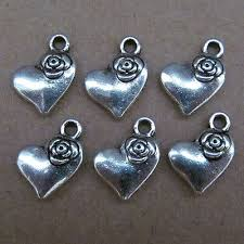 30pc retro small pendants charm love