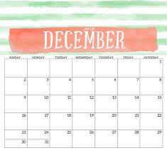 Printable Calendar December 2018 Monthly Calendar Template