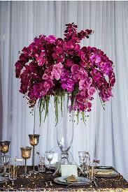 Fuchsia orchid arrangement
