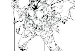 Star Wars Coloring Pages Of Boba Fett Lego Portraits New Stunning