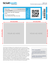 E Ticket Template Custom eTicket Design Ticketbooth Support 1