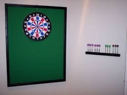 how to build a dart board surround to