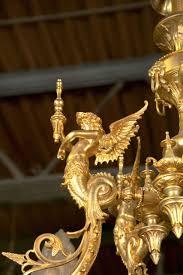 1920 s antique bronze dess chandelier for 3
