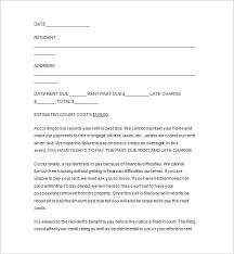 Past Due Rent Notice Template