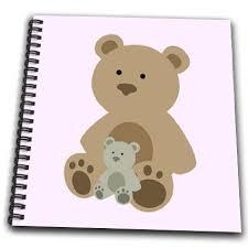 rinapiro kids teddy bear pink kids room decoration drawing book 8 x 8 inch db 212048 1 in on alibaba