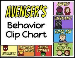 Avengers Chart Behavior Clip Chart Avengers Version 2