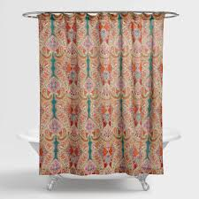 turquoise and orange shower curtain. turquoise and orange shower curtain a